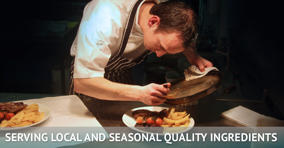 serving local and seasonal quality ingredients